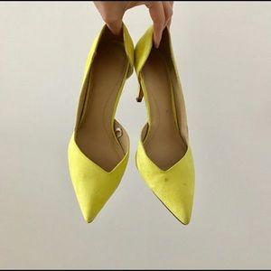 zara neon medium heels